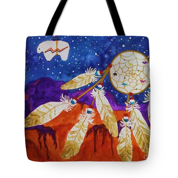 Dreamcatcher Over The Mesas Tote Bag