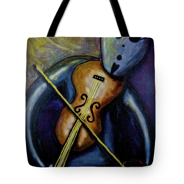 Tote Bag featuring the painting Dreamers 99-002 by Mario Perron