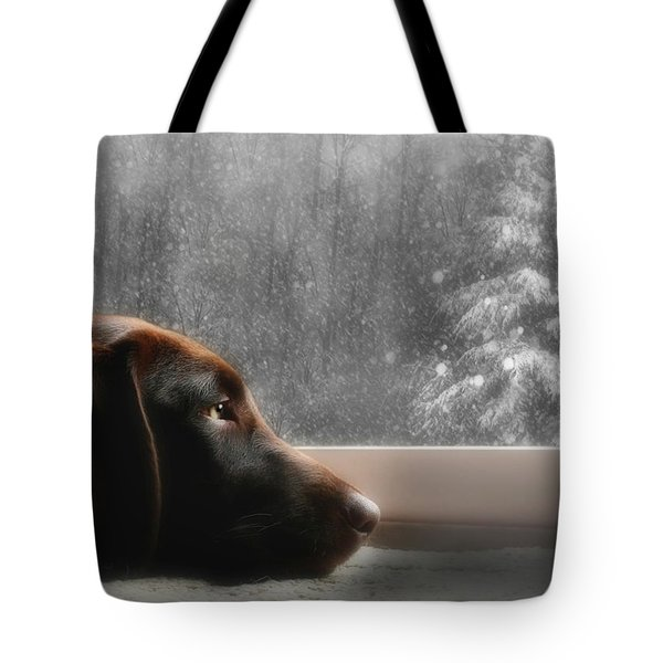 Dreamin' Of A White Christmas Tote Bag by Lori Deiter