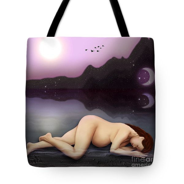 Tote Bag featuring the digital art Dreaming A Life by Rosa Cobos