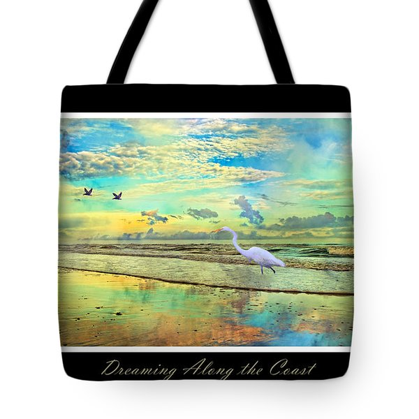 Dreaming Along The Coast -- Egret  Tote Bag