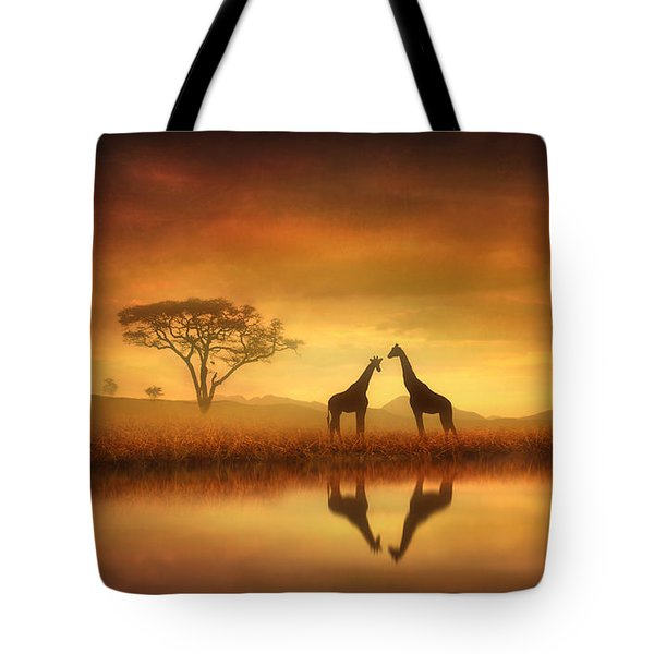 Dreaming Of Africa Tote Bag by Jennifer Woodward