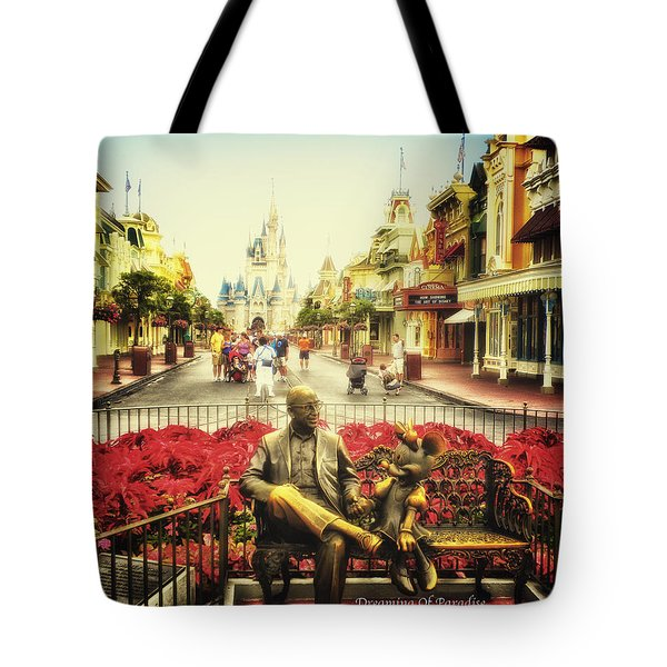 Dreaming Of Paradise Walt Disney World Tote Bag by Thomas Woolworth