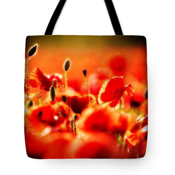 Tote Bag featuring the photograph Dreaming Of Poppies by Meirion Matthias