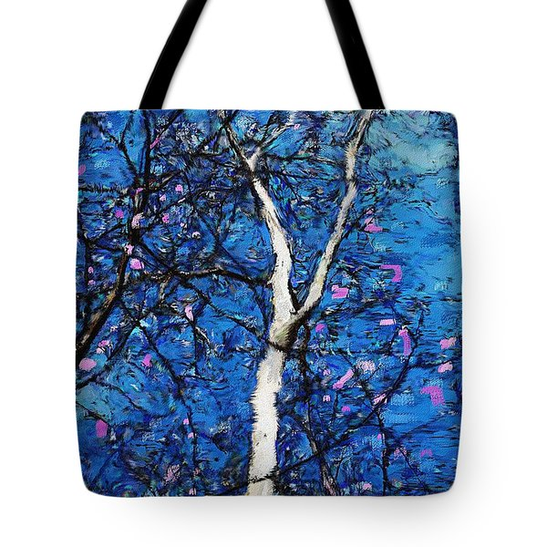 Tote Bag featuring the digital art Dreaming Of Spring by David Lane
