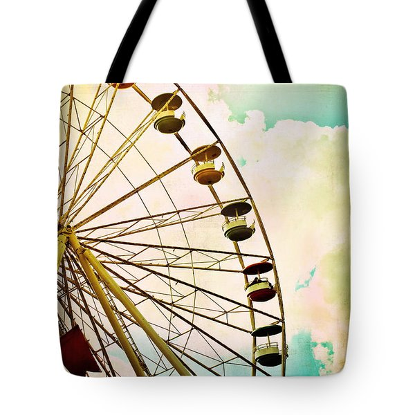 Dreaming Of Summer - Ferris Wheel Tote Bag by Colleen Kammerer