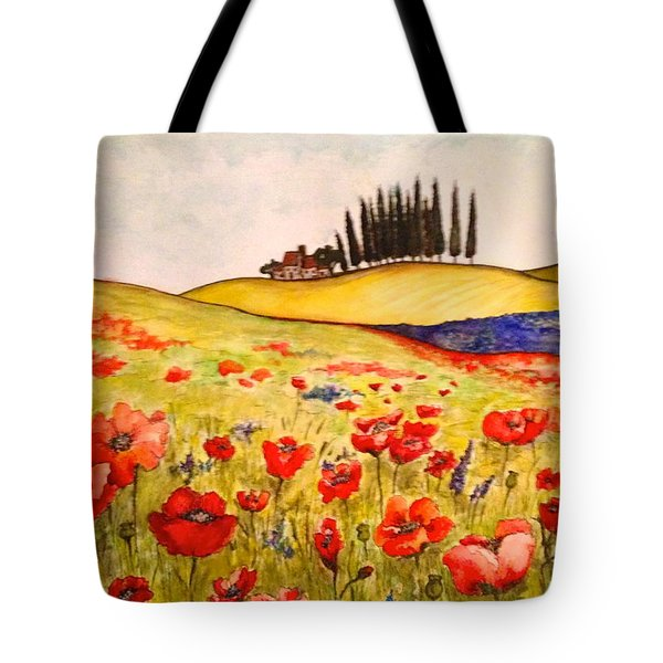 Dreaming Of Tuscany Tote Bag by Rae Chichilnitsky
