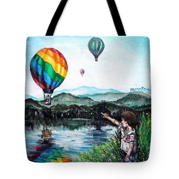Tote Bag featuring the painting Dreams Do Come True by Shana Rowe Jackson