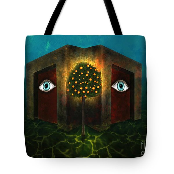 Tote Bag featuring the digital art Dreams Do Not Sleep by Rosa Cobos