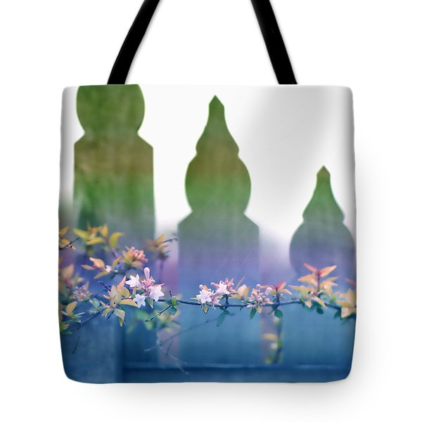 Dreams Of A Picket Fence Tote Bag by Holly Kempe