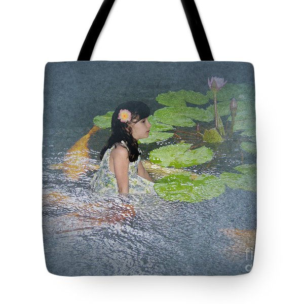 Dreams Of Golden Scales Tote Bag by Audra D Lemke