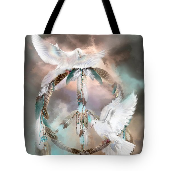 Dreams Of Peace Tote Bag by Carol Cavalaris