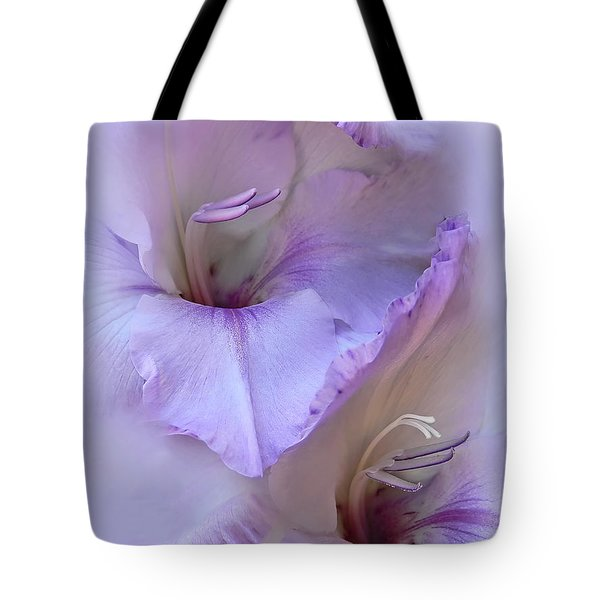 Dreams Of Purple Gladiola Flowers Tote Bag by Jennie Marie Schell
