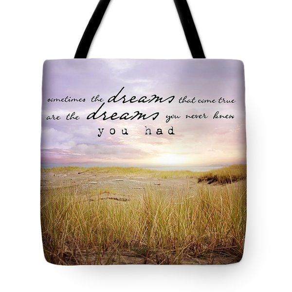 Tote Bag featuring the photograph Dreams by Sylvia Cook