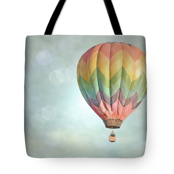 Dreamy Balloon Pair Sky Tote Bag by Andrea Hazel Ihlefeld