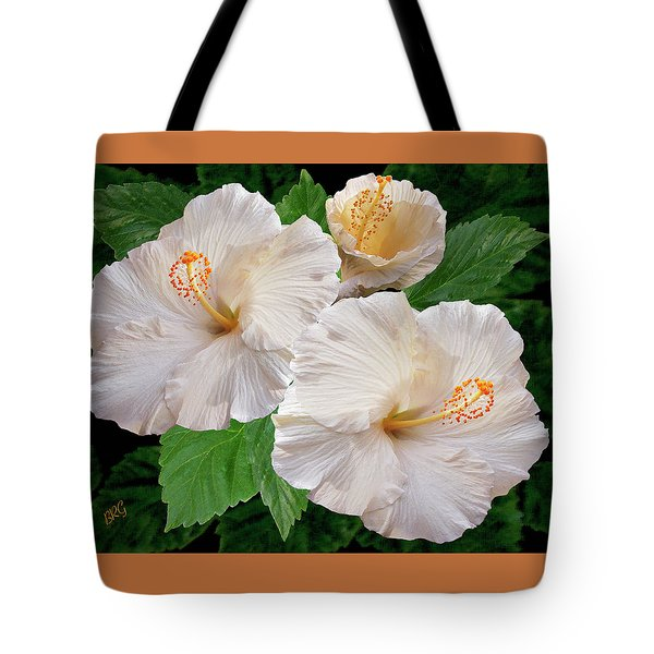 Dreamy Blooms - White Hibiscus Tote Bag