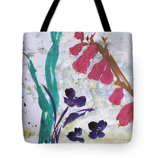 Dreamy Day Flowers Tote Bag