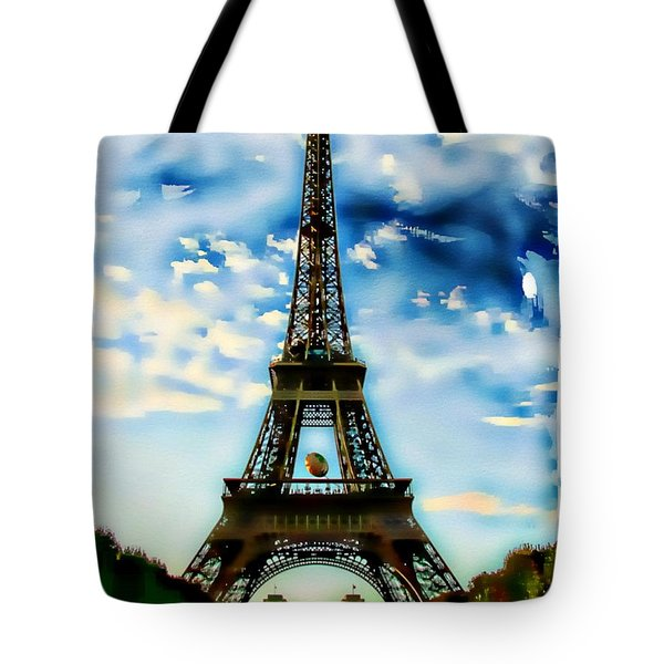 Dreamy Eiffel Tower Tote Bag by Kathy Churchman
