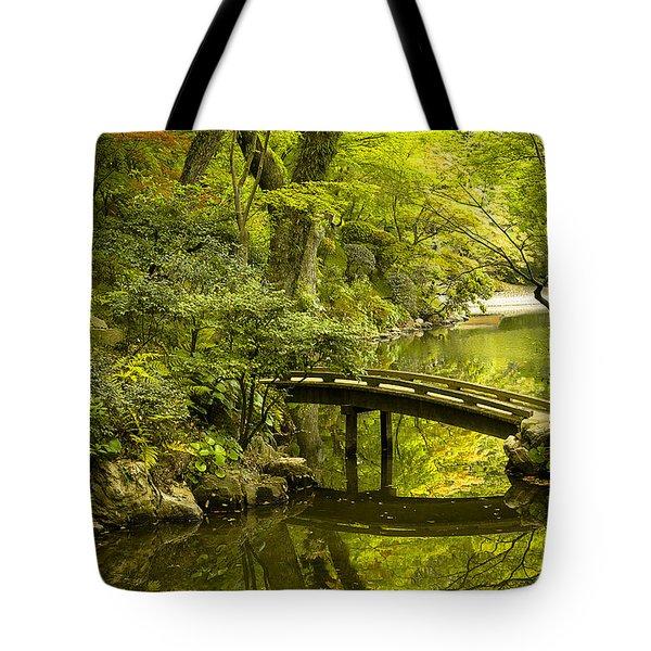 Dreamy Japanese Garden Tote Bag by Sebastian Musial