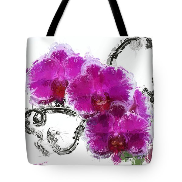 Dreamy Orchids Tote Bag