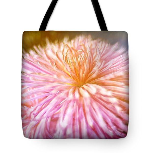 Dreamy Pink Chrysanthemum Tote Bag