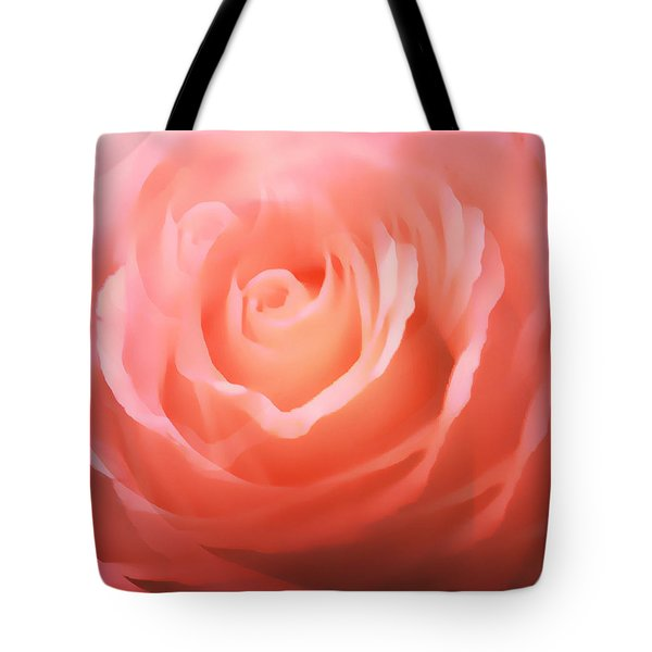 Dreamy Pink Rose Tote Bag