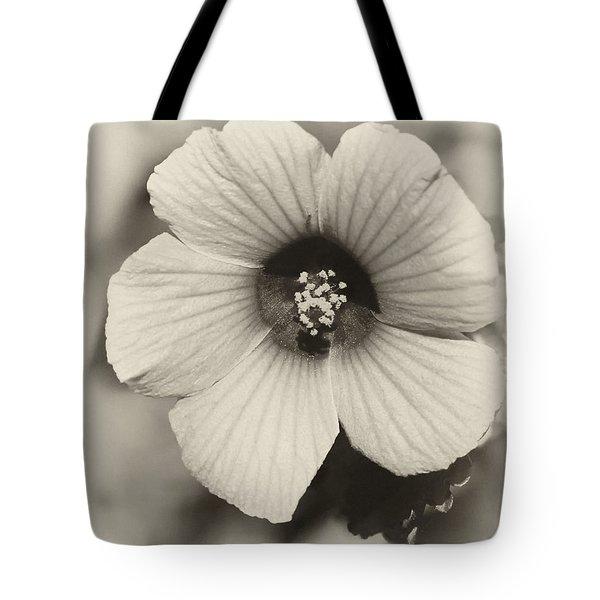 Dreamy Sepiatone Rosette Hibiscus Tote Bag by Sabrina L Ryan