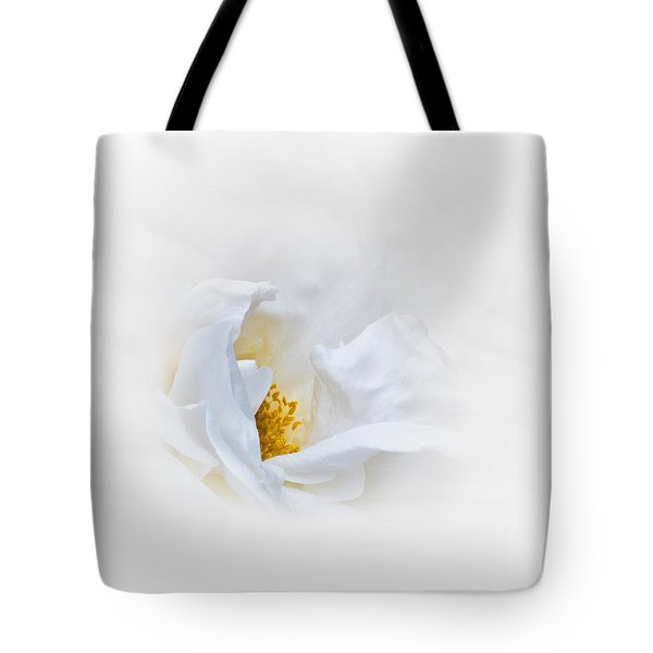 Dreamy White Rose Tote Bag by Jane McIlroy