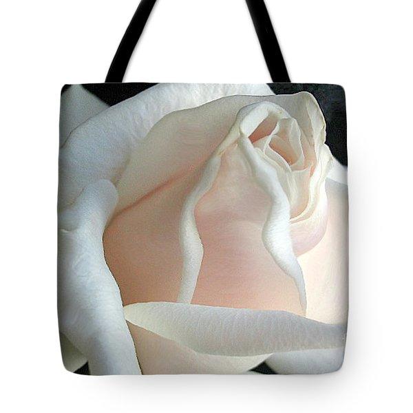 Dreamy White Rose Tote Bag