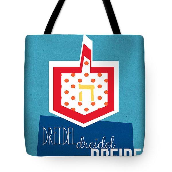 Dreidels Tote Bag by Linda Woods