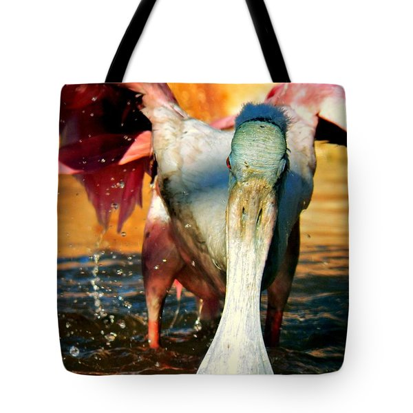 Tote Bag featuring the photograph Drenched by Faith Williams