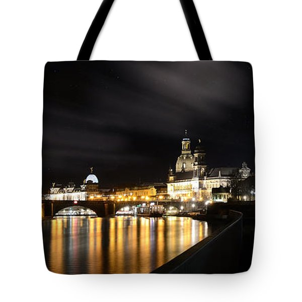 Dresden At Night Tote Bag by Steffen Gierok
