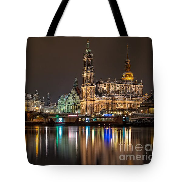 Dresden By Night Tote Bag