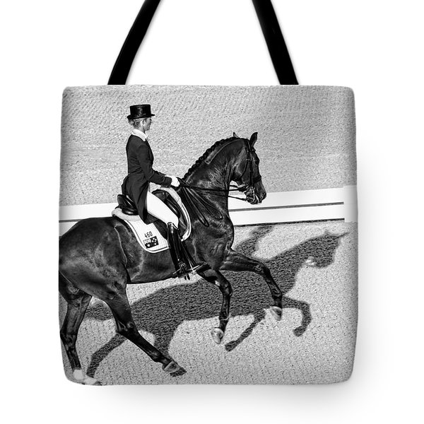 Dressage Une Noir Tote Bag by Alice Gipson