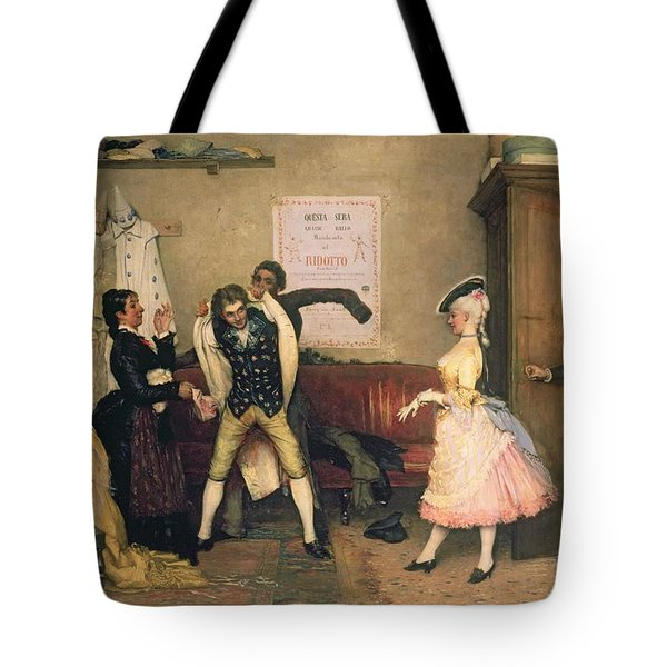 Dressing For The Masquerade Tote Bag by Eugen von Blaas