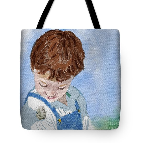 Drew And Frog Tote Bag