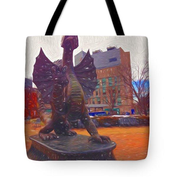 Drexel Dragon Colored Tote Bag