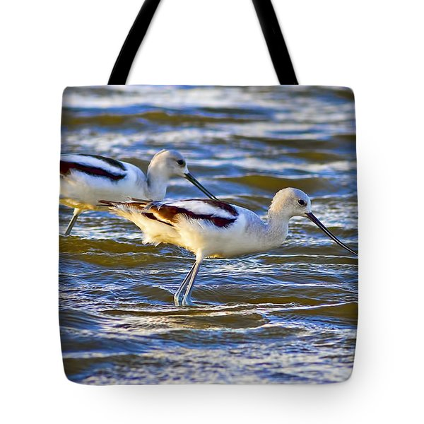 Tote Bag featuring the photograph Dribbling Contest by Gary Holmes
