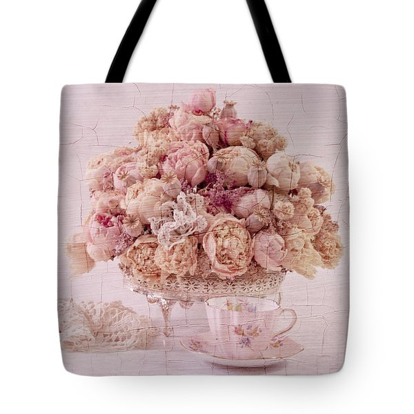 Tote Bag featuring the photograph Dried Peony Still Life by Sandra Foster