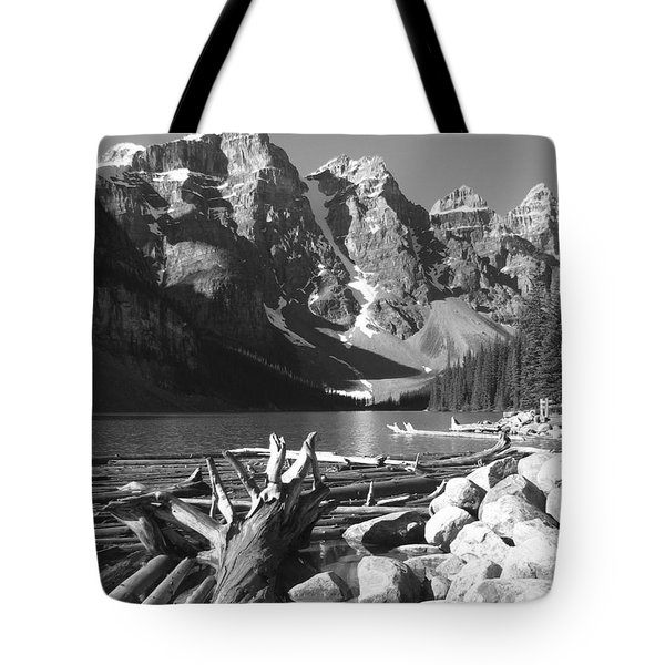 Driftwood - Black And White Tote Bag by Marcia Socolik