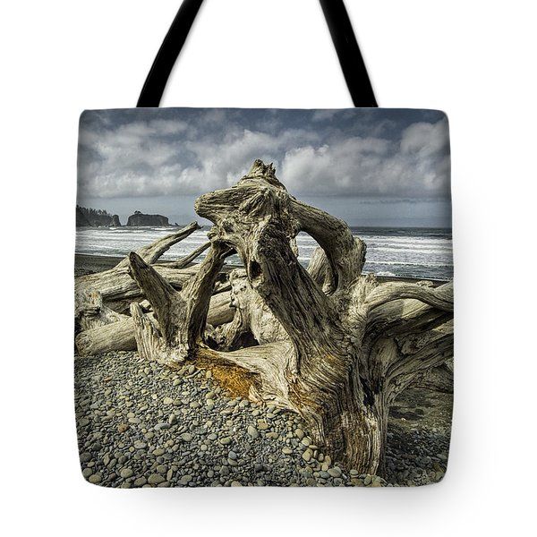 Driftwood On Rialto Beach In Olympic National Park No. 144 Tote Bag by Randall Nyhof