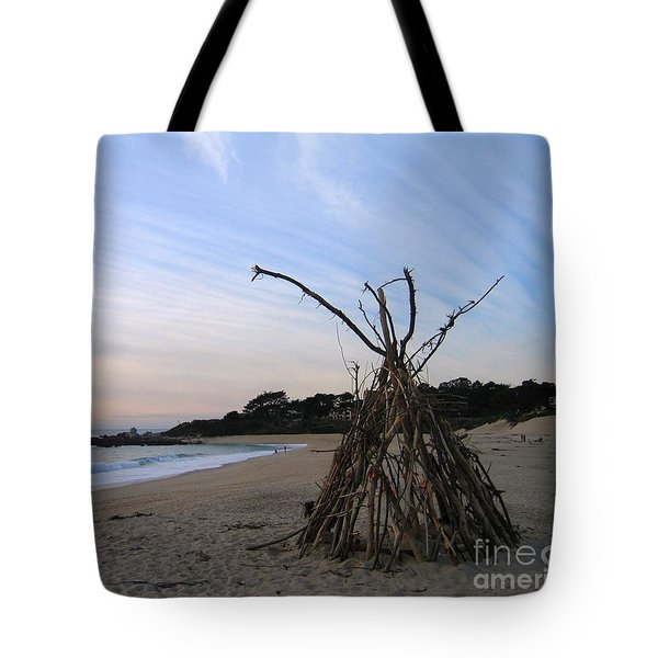 Tote Bag featuring the photograph Driftwood Tipi by James B Toy
