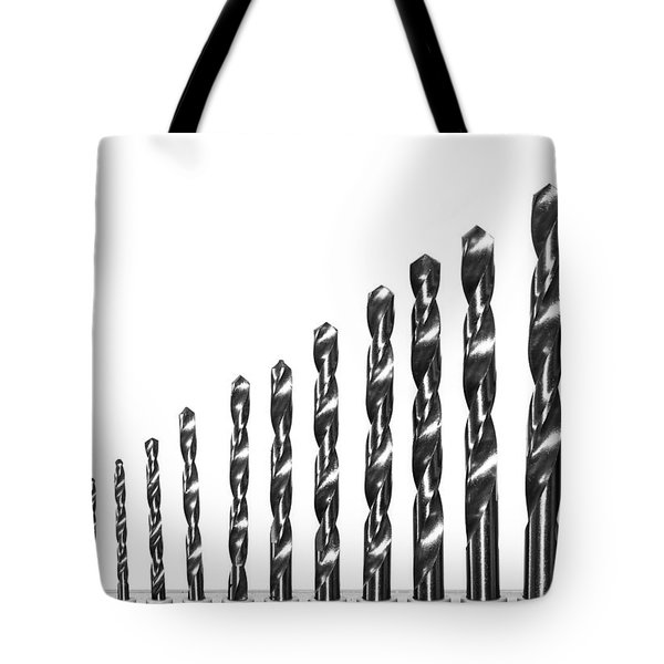 Tote Bag featuring the photograph Drill Bits by Matt Malloy