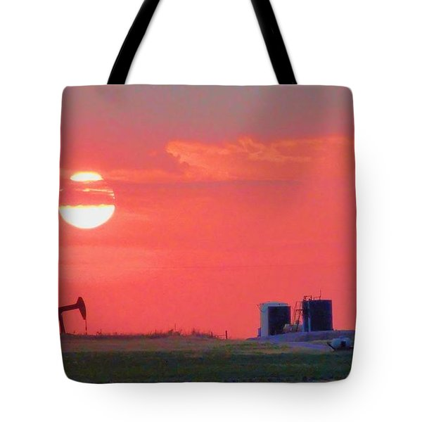 Tote Bag featuring the photograph Rising Full Moon In Oklahoma by Janette Boyd