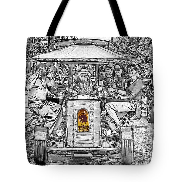 Drinking And Driving Tote Bag