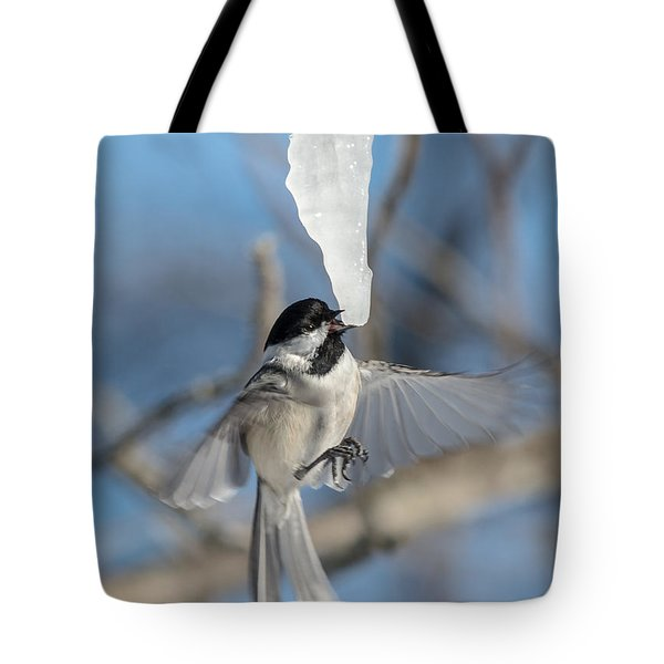 Drinking In Flight Tote Bag by Cheryl Baxter