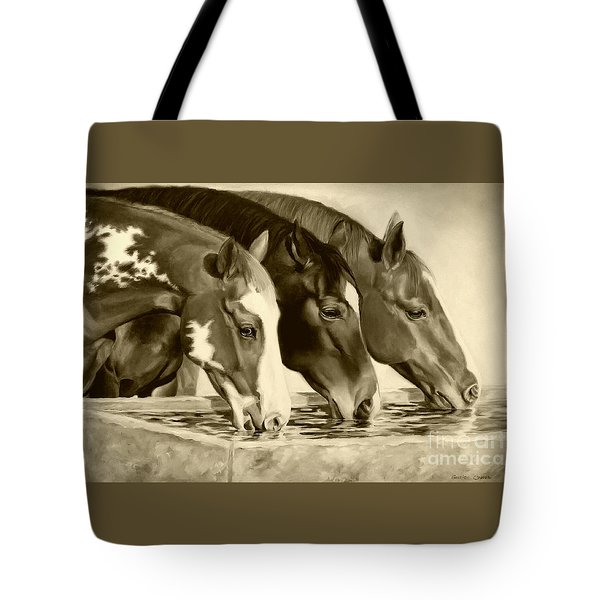 Drink'n Buddies Sepia Tote Bag