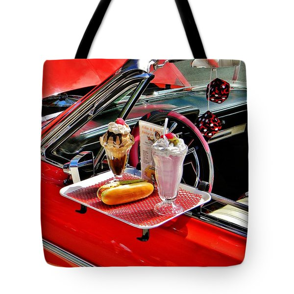 Drive-in Diner Tote Bag by Jean Goodwin Brooks