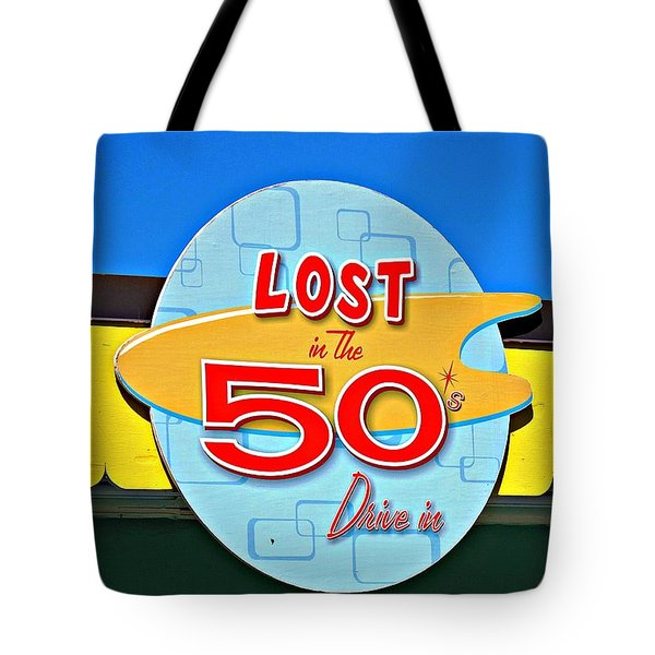 Drive-in Diner Sign Tote Bag by Ethna Gillespie
