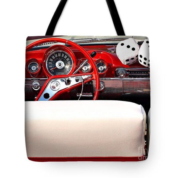 Drive-in Lounge - 1960 Chevy Tote Bag